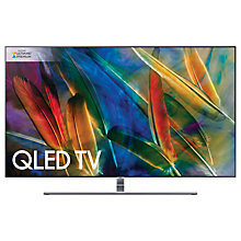 "Buy Samsung QE55Q8F QLED HDR 1500 4K Ultra HD Smart TV, 55"" with TVPlus/Freesat HD & 360 Design, Silver, Ultra HD Premium Certified Online at johnlewis.com"