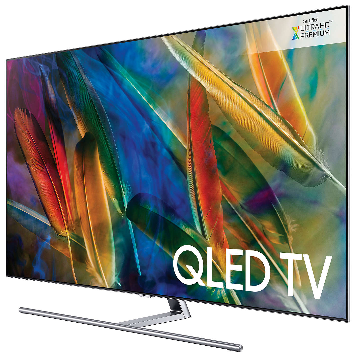 "BuySamsung QE55Q8F QLED HDR 1500 4K Ultra HD Smart TV, 55"" with TVPlus/Freesat HD & 360 Design, Ultra HD Premium Certified, Silver Online at johnlewis.com"
