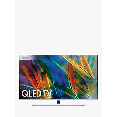 Samsung QE65Q8F QLED HDR 1500 4K Ultra HD Smart TV, 65 with TVPlus/Freesat HD & 360 Design, Silver, Ultra HD Premium Certified