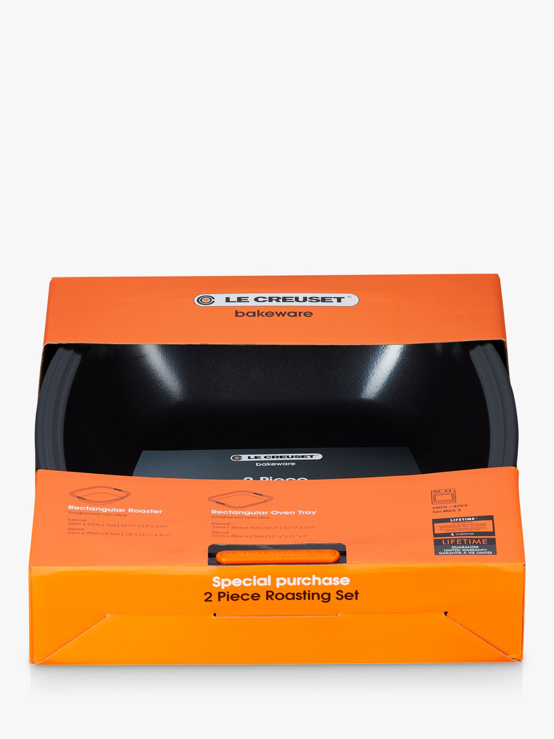 Le Creuset Non-Stick Rectangular Roaster and Oven Tray Set