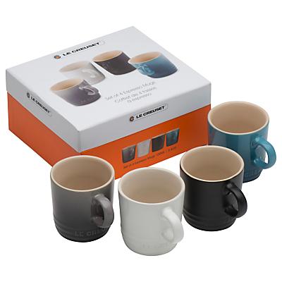 Le Creuset Stoneware Espresso Mugs, Taste of the City, Set of 4