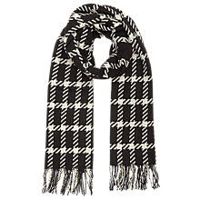 Buy Reiss Tempest Wool Checked Scarf, Black/White Online at johnlewis.com