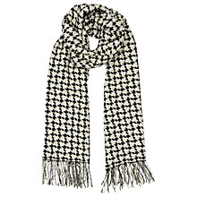 Buy Reiss Marlin Houndstooth Wool Scarf, Black/Natural Online at johnlewis.com