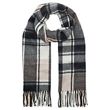 Buy Miss Selfridge Check Rectangular Scarf, Pink Online at johnlewis.com