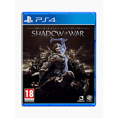Image of Middle-Earth: Shadow of War, PS4
