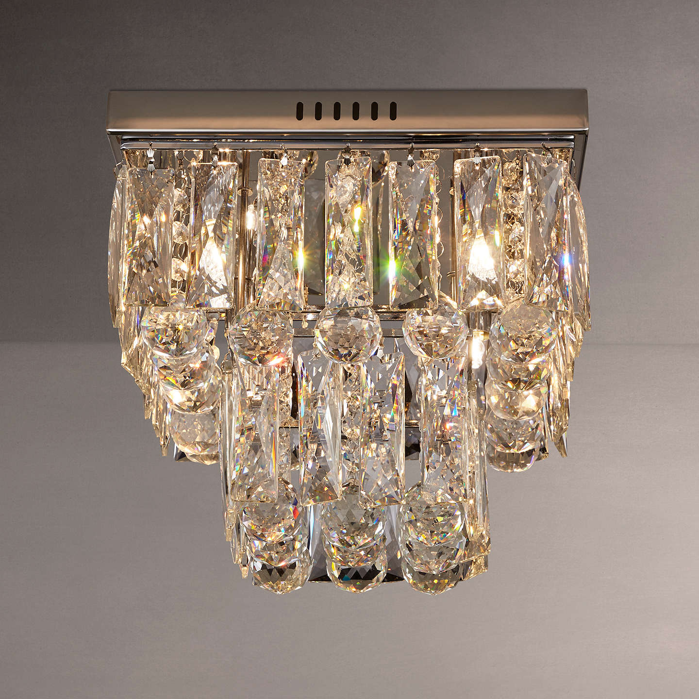 BuyJohn Lewis Anastasia Square Crystal Semi Flush Ceiling Light Clear Online At Johnlewis