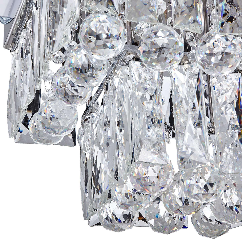 John Lewis Anastasia Square Crystal Semi Flush Ceiling Light Clear At Johnlewis