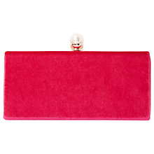 Buy Dune Baltimor Pearl Trim Clutch Bag, Pink Online at johnlewis.com