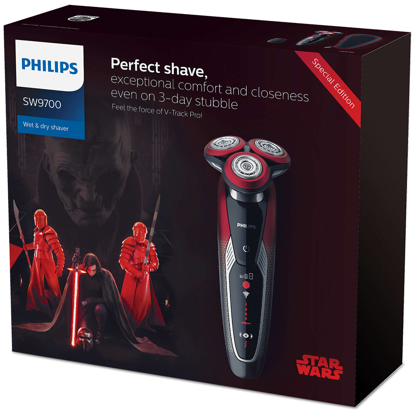 BuyPhilips SW9700/67 Star Wars Special Edition Dark Side Men's Electric Shaver Gift Pack Online at johnlewis.com