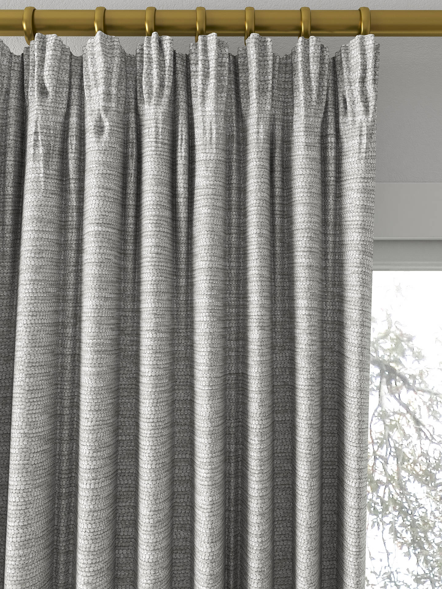 BuyJohn Lewis Partners Zambia Made To Measure Curtains Silver Online At Johnlewis
