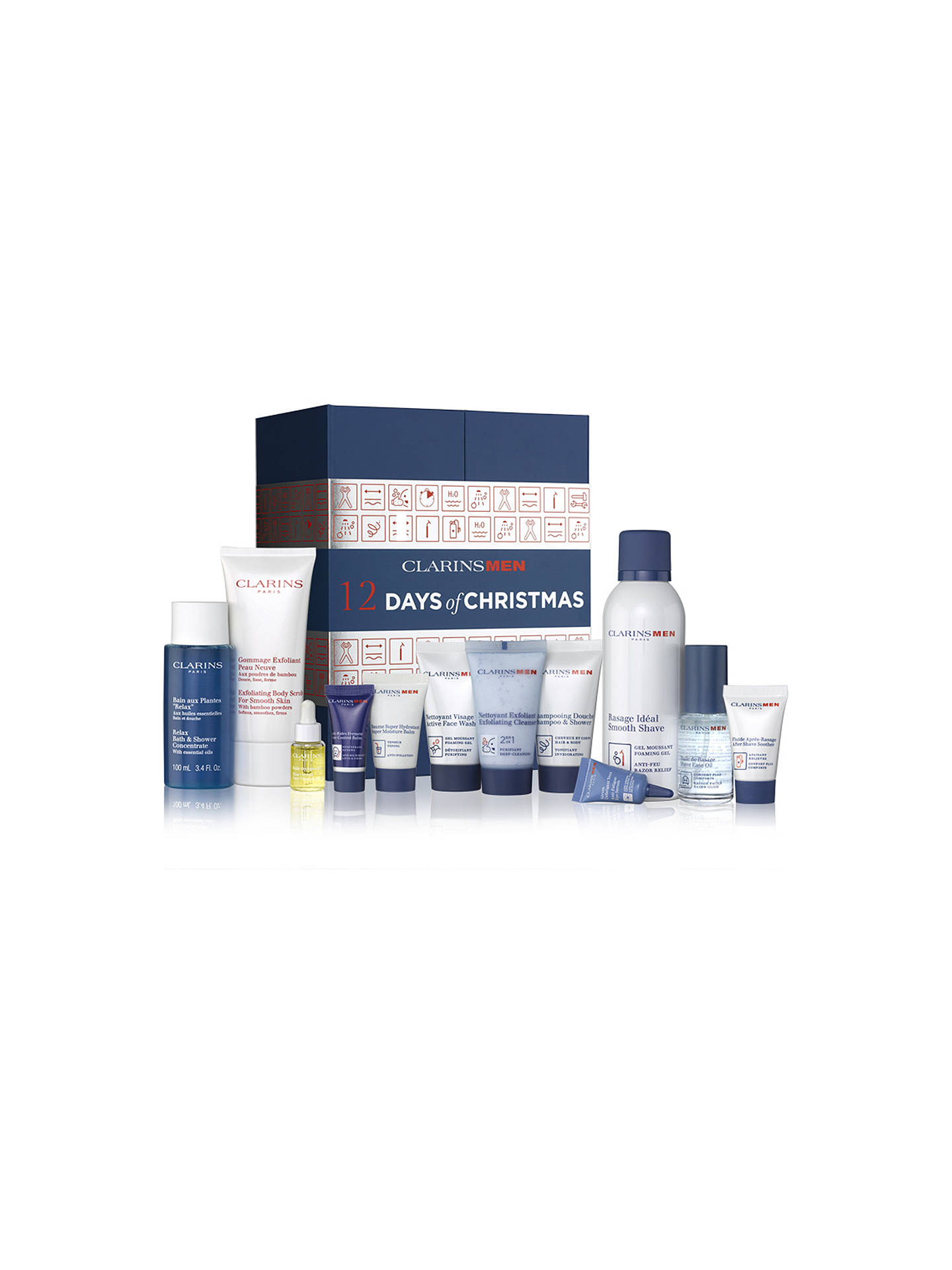BuyClarinsMen 12 Days Of Christmas Advent Calendar Online at johnlewis.com