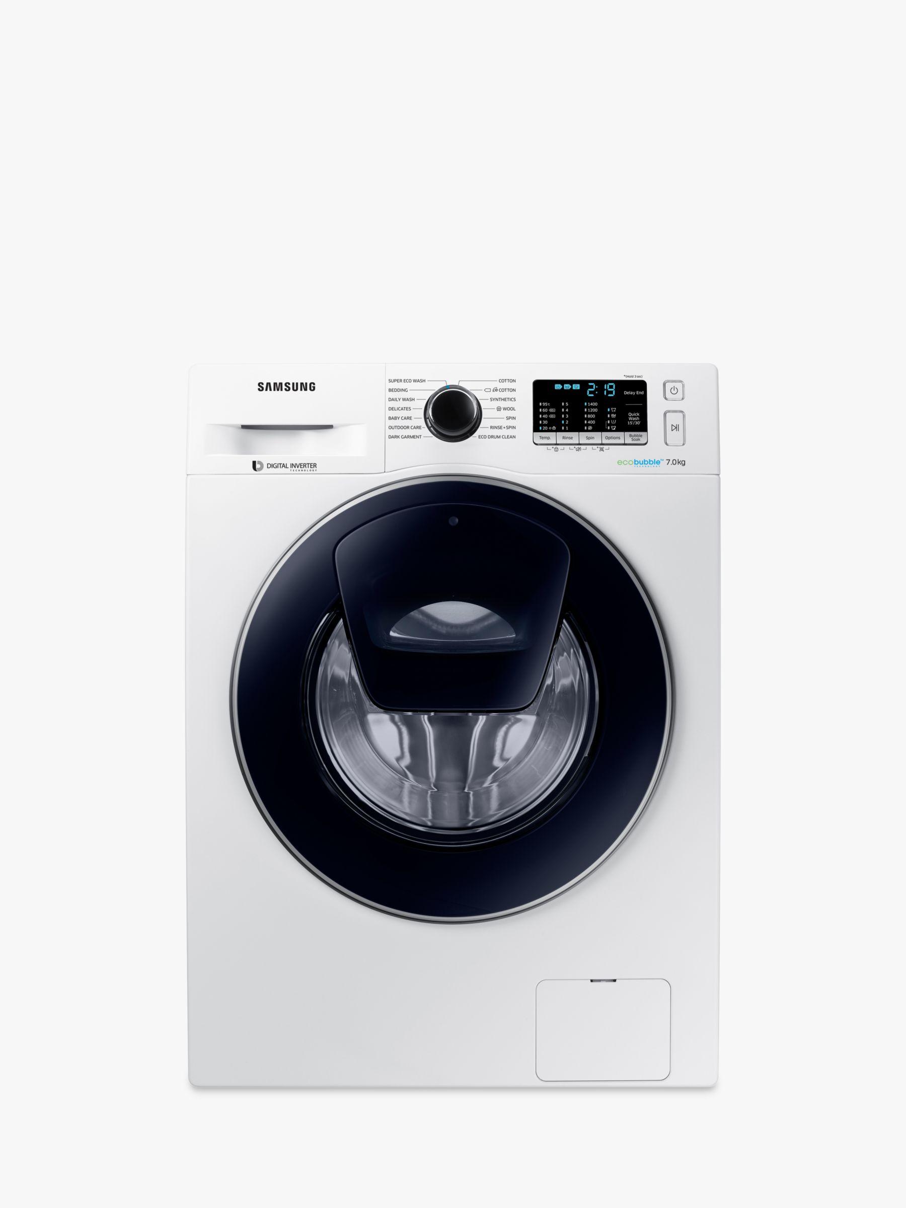 Samsung Samsung AddWash WW70K5410UW Washing Machine, 7kg Load, A+++ Energy Rating, 1400rpm Spin, White
