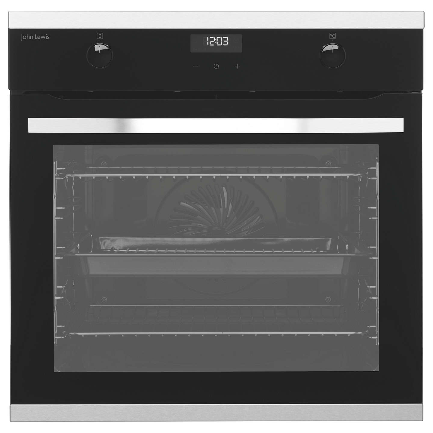 John Lewis JLBIOS631 Single Multifunction Oven, Stainless Steel at ...