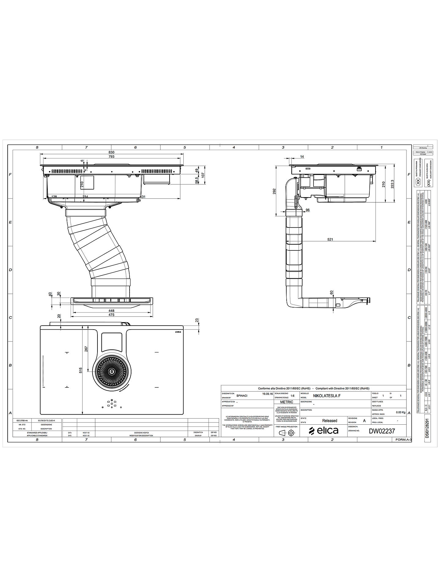 Elica Nikolatesla Recirculating Induction Hob Black At John Lewis Cooker Circuit Diagram Buyelica Online