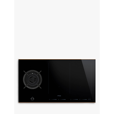 Smeg PM6912WLDR Induction and Gas Mixed Hob, Black