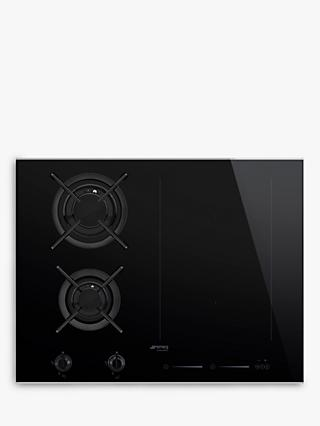 Smeg SIM6621WLDX Induction and Gas Mixed Hob, Black