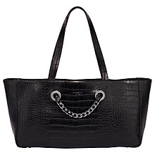 Buy Fiorelli Yardley East / West Tote Bag, Black Croc Online at johnlewis.com