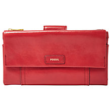 Buy Fossil Ellis Leather Clutch Purse Online at johnlewis.com