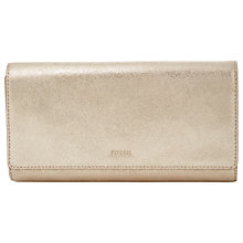 Buy Fossil Emma Leather RFID Flap Clutch Purse Online at johnlewis.com