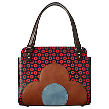 Buy Orla Kiely Jeanette Leather Flower Foulard Bowler Bag, Multi Online at johnlewis.com