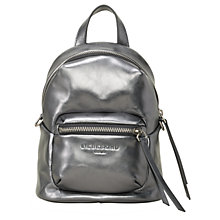 Buy Liebeskind Jessi Leather Mini Backpack, Rock Grey Metallic Online at johnlewis.com