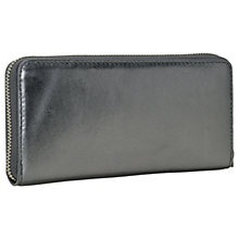 Buy Liebeskind Conny Gigi W7 Leather Zip Around Purse, Rock Grey Metallic Online at johnlewis.com