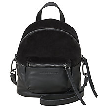 Buy Liebeskind Jessi Leather Mix Mini Backpack, Oil Black Online at johnlewis.com