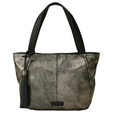 Buy Liebeskind Louisville Zipper Large Leather Tote, Silver Online at johnlewis.com
