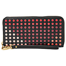 Buy Fossil Emma Large Studded Zip Clutch Purse, Multi Online at johnlewis.com