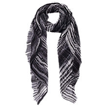 Buy French Connection Monochrome Tie Dye Scarf, Black/White Online at johnlewis.com