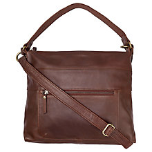 Buy Fat Face Sally Leather Shoulder Bag, Chocolate Online at johnlewis.com