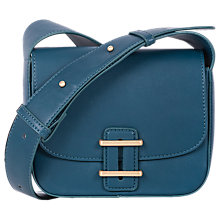 Buy French Connection Contemporary Slide Lock Square Cross Body Bag, Urban Green Online at johnlewis.com