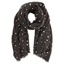 Buy Mint Velvet Abstract Spotty Scarf, Grey Online at johnlewis.com