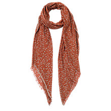 Buy French Connection Agnes Print Scarf, Copper Coin Multi Online at johnlewis.com