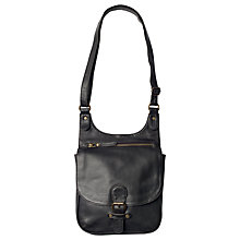 Buy Fat Face Hannah Oiled Cross Body Bag, Black Online at johnlewis.com