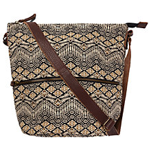 Buy Fat Face Tia Floral Woven Cross Body Bag, Black/Multi Online at johnlewis.com