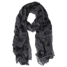 Buy Mint Velvet Camouflage Print Scarf, Grey Online at johnlewis.com