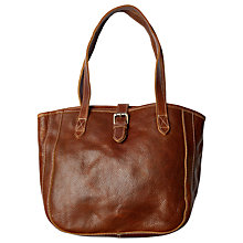 Buy Fat Face Small Buckle Tote Bag, Chestnut Online at johnlewis.com