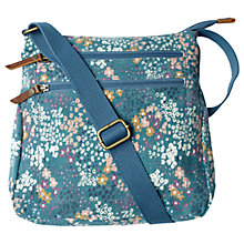 Buy Fat Face Floral Canvas Cross Body Bag, Teal Online at johnlewis.com