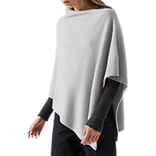 Buy Jigsaw Serena Cashmere Poncho, Haze Grey Online at johnlewis.com