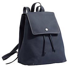Buy Jigsaw Ruskin Rubber Leather Backpack, Blue Online at johnlewis.com