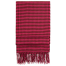 Buy Hobbs Claudia Check Scarf, Magenta Online at johnlewis.com
