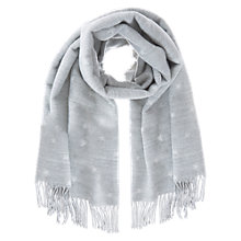 Buy Mint Velvet Star Blanket Scarf, Light Grey Online at johnlewis.com