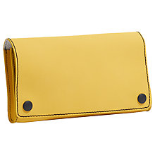 Buy Jigsaw Harrison Rubber Leather Clutch Online at johnlewis.com