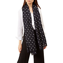 Buy Hobbs Bella Wool Blend Spot Scarf, Navy/Multi Online at johnlewis.com