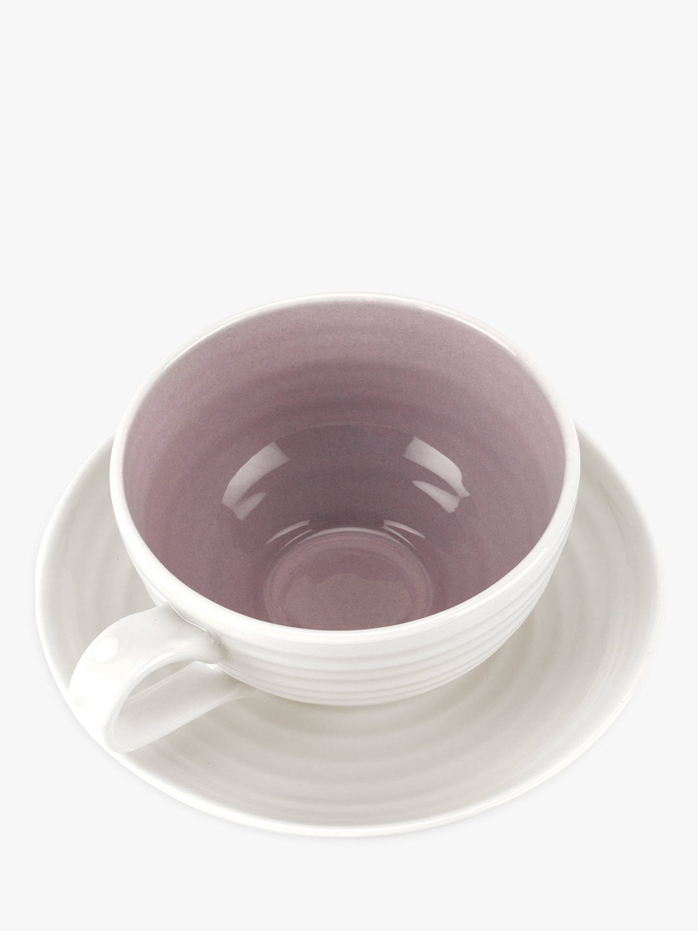 Buy Sophie Conran for Portmeirion Tea Cup and Saucer, 200ml, Mulberry Online at johnlewis.com