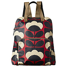 Buy Orla Kiely Spring Bloom Backpack, Red Online at johnlewis.com