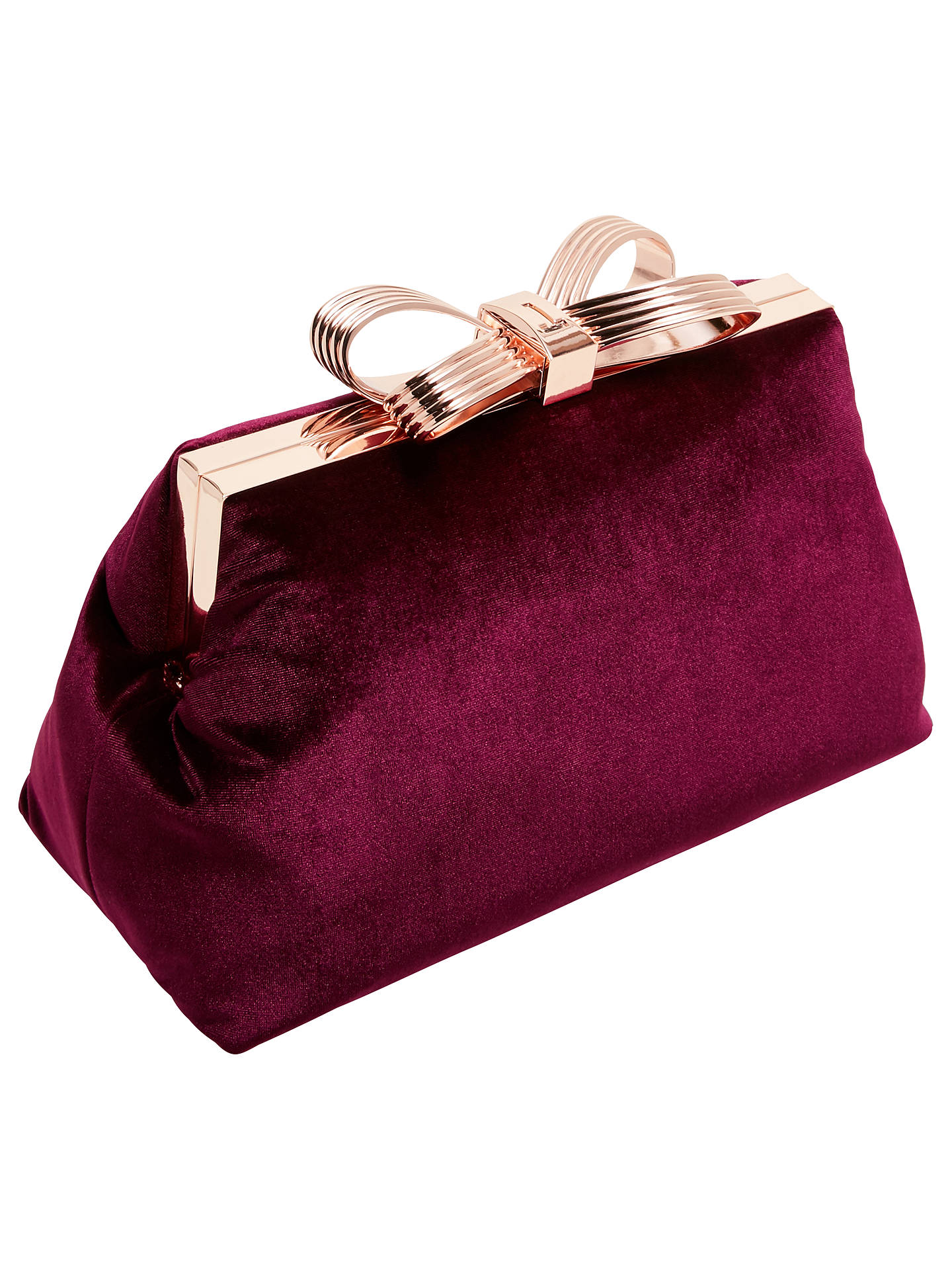 Buy Ted Baker Cena Bow Evening Clutch Bag, Oxblood Online at johnlewis.com