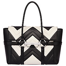 Buy Fiorelli Barbican Large Flapover Patterned Tote Bag, Mono Stitch Online at johnlewis.com