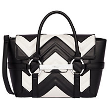 Buy Fiorelli Barbican Small Flapover Patterned Tote Bag, Mono Stitch Online at johnlewis.com